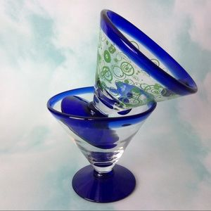 Kosta Boda Royal Caribbean Margarita Glasses